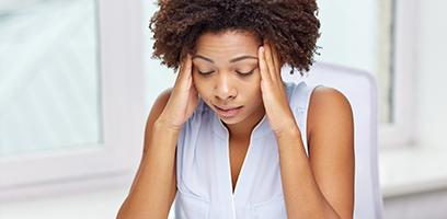 Estresse causa queda de cabelo.
