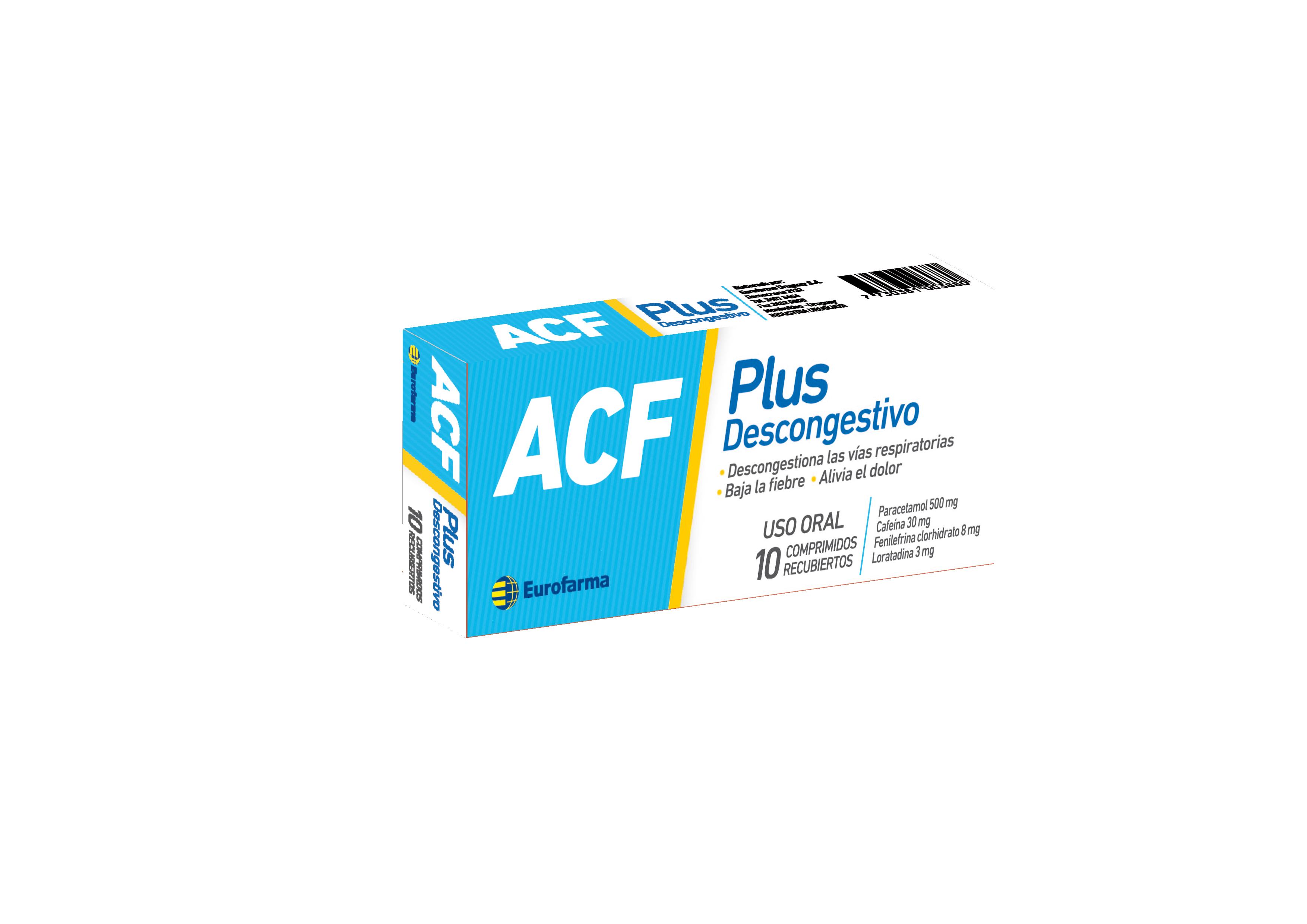 ACF PLUS DESCONGESTIVO (comprimidos)